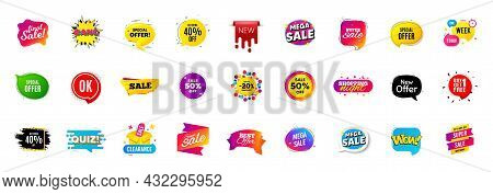 Best Sale Offer Banners. Discounts Price Deal Stickers. Special Offer 3d Bubble. Promotion Sale Tag