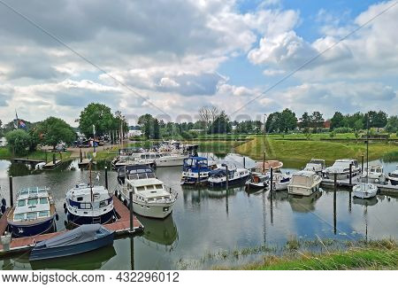 The harbor from Woudrichem in the Netherlands