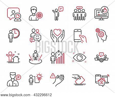 Vector Set Of People Icons Related To Valet Servant, Communication And Business Idea Icons. New Hous