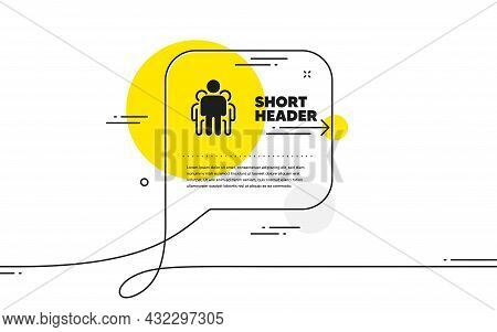 Group Icon. Continuous Line Chat Bubble Banner. Business Management Sign. Teamwork Symbol. Group Ico