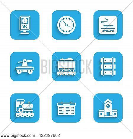 Set Coal Train Wagon, Train Station Board, Railway, Railway, Railroad Track, Vintage Locomotive, Dra