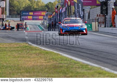 Barcelona, Spain, September 4, 2021 : Alpine Cup Support Race During 24 Hours Series By Hancook On B
