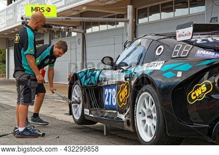 Barcelona, Spain, September 3, 2021 : In The Pitlane Of 24hours Series By Hancook Barcelona Race. 24