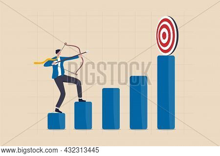 Business Challenge To Achieve Higher Target, Ambition And Aspiration To Improve Or Aiming For Succes