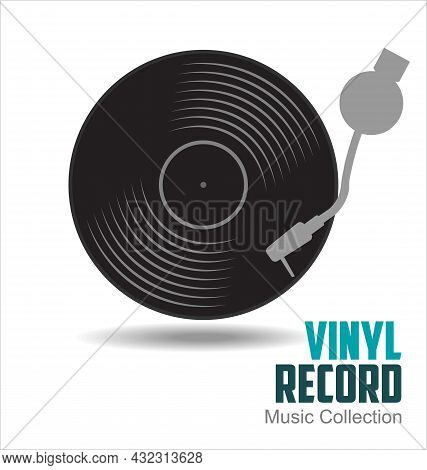 Gramophone Vinyl Lp Record Illustration Background 001.eps