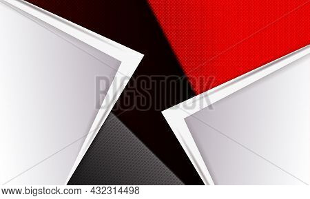 Textured Beautiful Background, White Corner With An Arrow, Slanting Curtains.