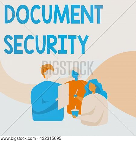 Conceptual Display Document Security. Concept Meaning Means In Which Important Documents Are Filed O