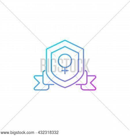 Feminist Organization Gradient Linear Vector Icon. Advance Gender Equality. Achieve Societal Change.