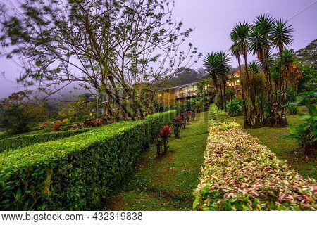 Bijagua De Upala, Costa Rica - January 17, 2020 : Celeste Mountain Lodge Located In The Rainforest O