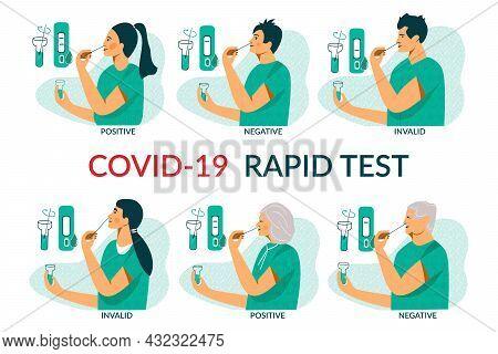 Rapid Covid-19 Antigen Testing For Adult, Elderly And Children. Corona Virus Nasal Pcr Swab Rapid Te