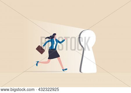Life Changing Opportunity, Enter Career Success Door Or Success In Work, New Challenge Or Doorway To