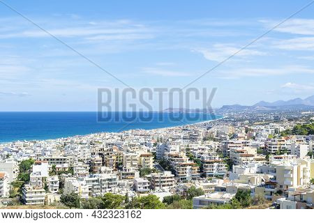 Aerial View Of Chania City, Greece And The Sea In Sunny Day