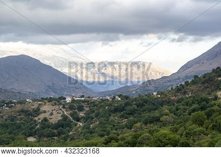Mountain View In Cloudy Day - Greece, Crete
