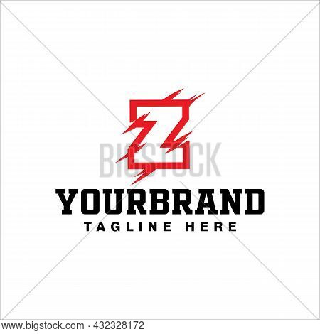 Letter Z Logo Design With Red Claw Scratch Vector Illustration