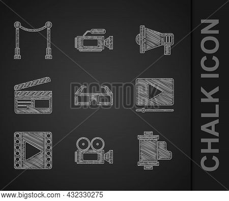 Set 3d Cinema Glasses, Cinema Camera, Camera Vintage Film Roll Cartridge, Online Play Video, Play Vi