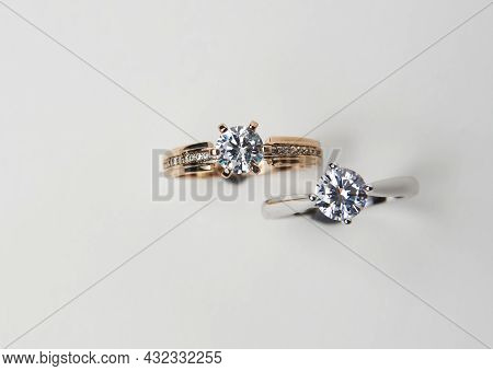 Diamond Ring Isolated On White Background