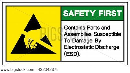 Safety First Contains Parts And Assemblies Susceptibleto Damage By Electrostatic Discharge (esd). Sy