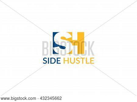 Side Hustle Abstract Sh Letter Modern Logo Design