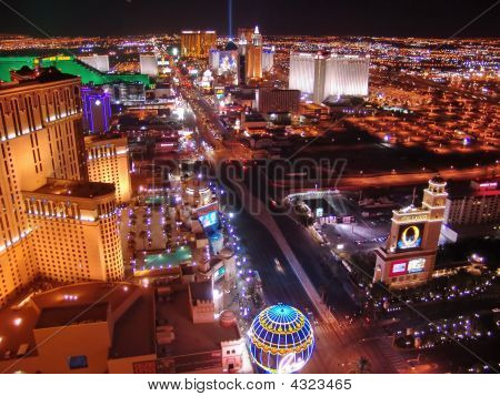 Las Vegas Night Panorama