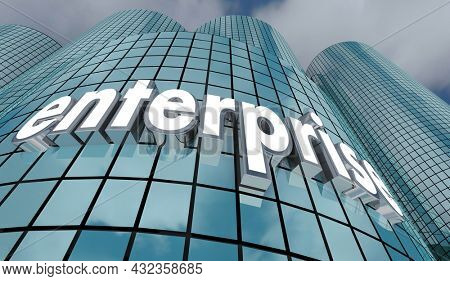 Enterprise Company Building Business Planning ERP 3d Illustration