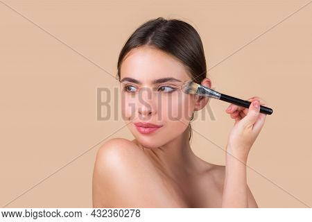 Beauty Woman Face Healthy Skin With Natural Make Up, Fresh Beauty Model Young Spa. Beauty Treatment