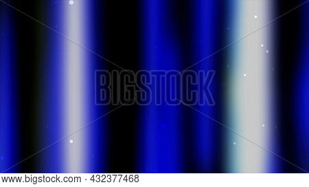 Blue, White, And Yellow Aura Of Light That Shines On A Black Background, Seamless Loop. Motion. Colo