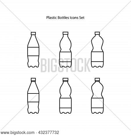 Plastic Bottle Icons Set Isolated On White Background. Plastic Bottle Icon Trendy And Modern Plastic