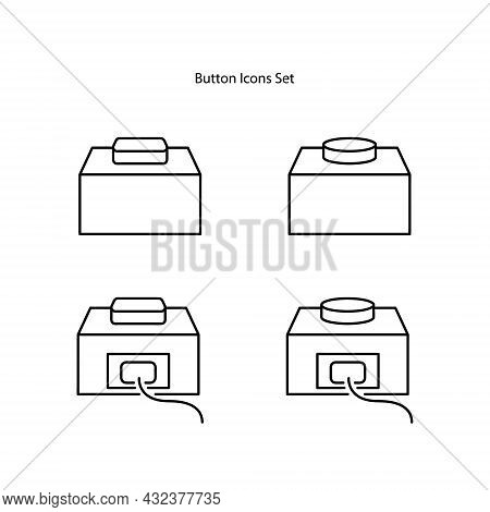 Button Icons Set Isolated On White Background. Button Icon Thin Line Outline Linear Button Symbol Fo