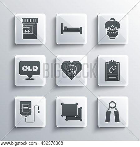 Set Pillow, Sport Expander, Medical Prescription, Grandmother, Iv Bag, Nursing Home, Medicine Bottle