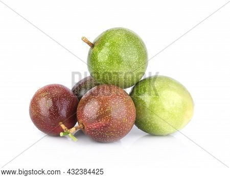 A Passion Fruit  Isolated On White Background