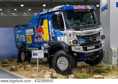 Kamaz-435091 From The Kamaz Master Racing Team - The Sports Truck For Rally Races. International Com