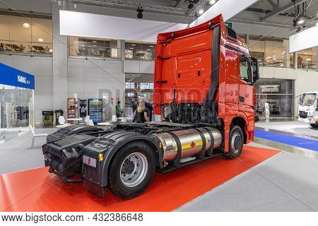 Liquefied Natural Gas Semi-truck Kamaz-54901. The Stand Of The Kamaz Company At The International Ex