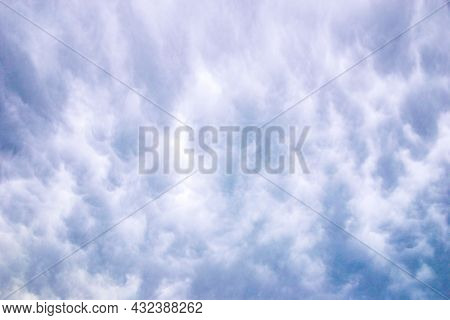 Ominous Cloud Patterns In An Overcast Sky
