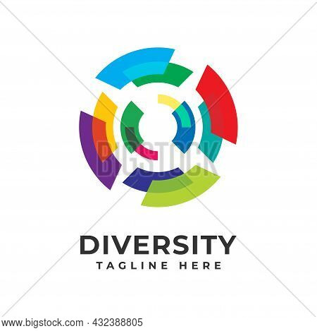 Modern Abstract Logo Diversity And Togetherness, Social Team Logo Icon. Social Diversity, Team Work.