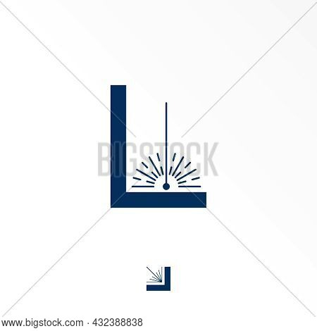 Letter L Free Logo Vector Stock. Splat Abstract Design Concept. Can Be Used As A Symbol Related To W