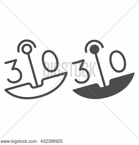 30 On Swing Line And Solid Icon, Dating And Relationship Concept, Thirty On Carousel Vector Sign On