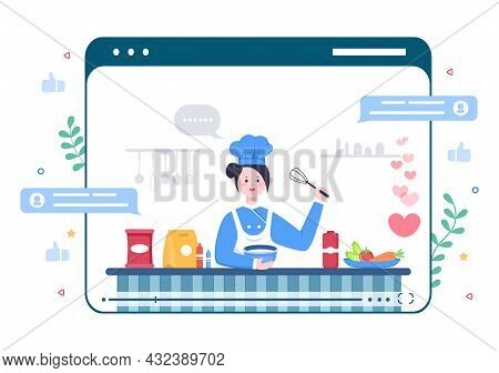 Food Cooking Blogger Background Create Content Creator About Making Good Food In The Kitchen At Home