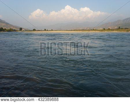 Most Beautiful View Of A River Swat At Shamozai Swat Kpk Pakistan