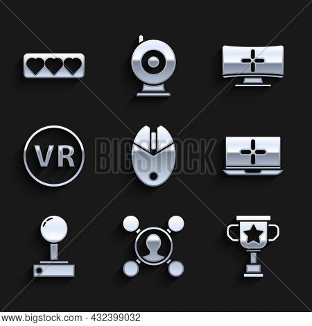 Set Computer Mouse Gaming, Share, Award Cup, Laptop, Joystick For Arcade Machine, Virtual Reality Gl
