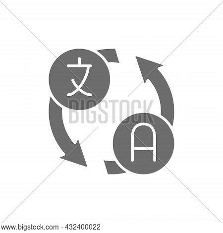 Vector Language Translation, Translate, Conversation Grey Icon.