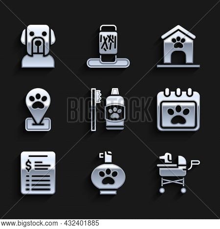 Set Dental Hygiene For Pets, Pet Shampoo, Stroller, Calendar Grooming, Grooming Salon Price List, Lo