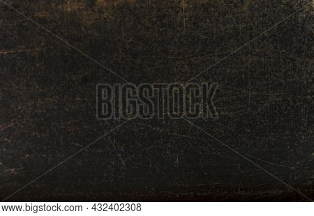 Blurred Shabby Old Black School Blackboard Background, Horizontal