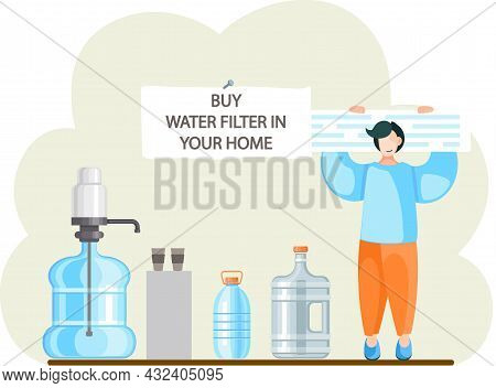 Buy Kitchen Water Filter In Your Home. Buying Filtering Reverse Osmosis System For Use And Drinking.