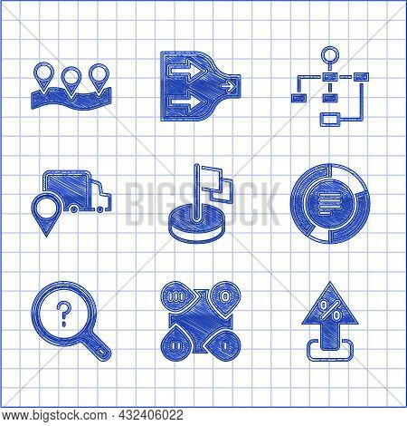 Set Flag, Infographic Element, Percent Up Arrow, Pie Chart Infographic, Unknown Search, Delivery Tra