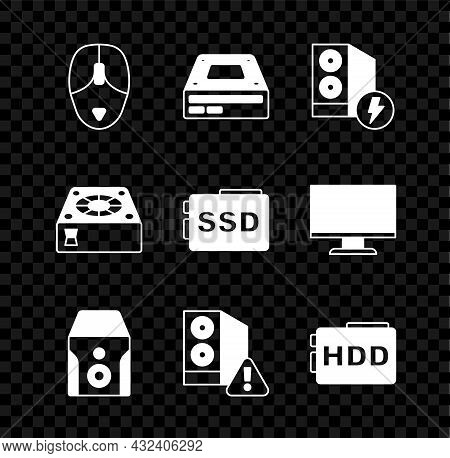 Set Computer Mouse, Optical Disc Drive, Case Of Computer, Uninterruptible Power Supply, Hard Disk Hd