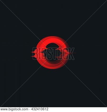 Red Sun, Burning Sunset, Melting Sunrise, Vector Icon.