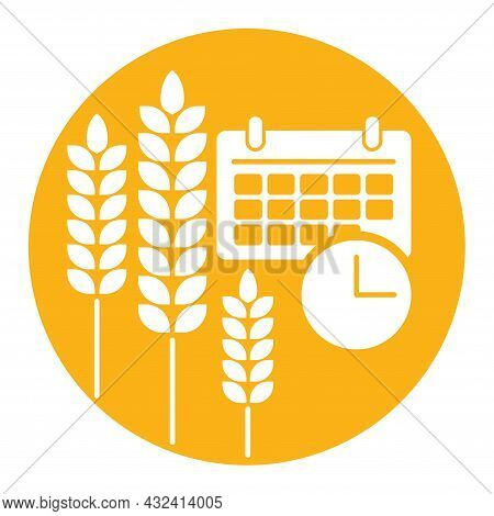 Perennial Wheat - Cereals With Deep Roots System. Future Of Agriculture. Vector Emblem