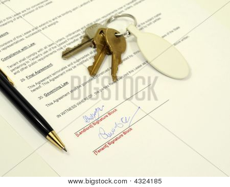 Signed Rental Application Document