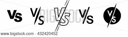 Vs Letters With Line Icon On White Background. Versus Logo, Symbol And Background. Vs Sign Set For G