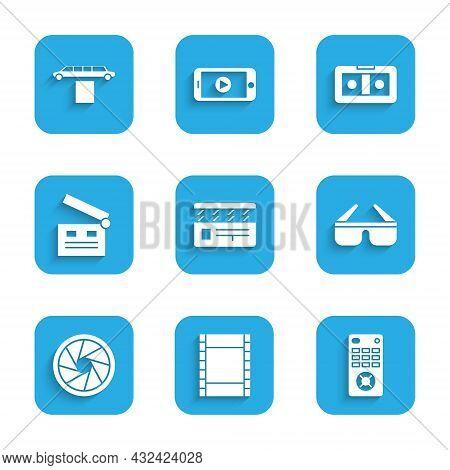 Set Movie Clapper, Play Video, Remote Control, 3d Cinema Glasses, Camera Shutter, Vhs Video Cassette